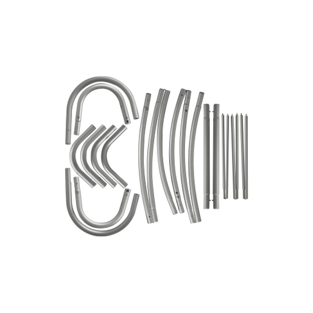 Totem Textil Snake structura dezasamblata