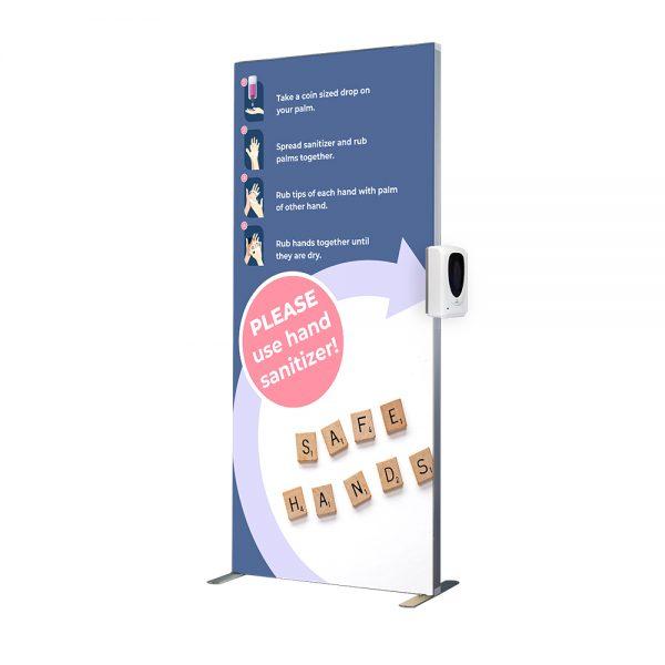 Statie Igienizare LED o faţă cu Dozator Automat Dezinfectant